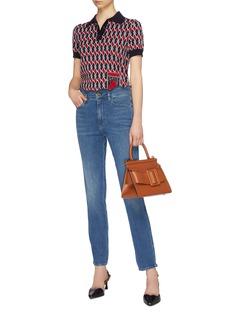 Frame Denim Scalloped waist straight leg jeans