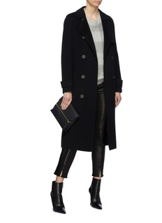 EQUIL 'Helsinki' belted wool-cashmere melton trench coat
