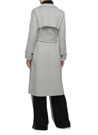 Back View - Click To Enlarge - EQUIL - 'Helsinki' belted wool-cashmere melton trench coat