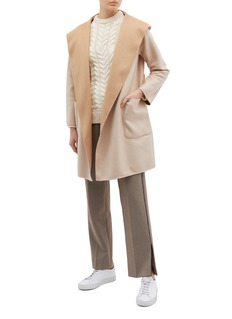EQUIL 'Nuuk' belted reversible hooded wool-cashmere melton coat