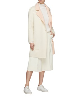 EQUIL 'Oslo' reversible wool-cashmere melton double breasted coat