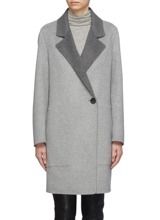 Main View - Click To Enlarge - EQUIL - 'Oslo' reversible wool-cashmere melton double breasted coat