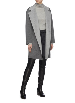 Figure View - Click To Enlarge - EQUIL - 'Oslo' reversible wool-cashmere melton double breasted coat