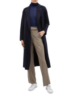 EQUIL 'Alaska' belted wool-cashmere melton coat