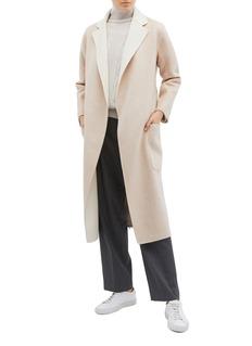 EQUIL 'Alaska' reversible belted wool-cashmere melton coat