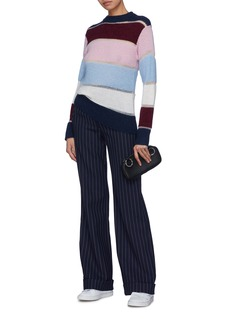 PH5 Drop stitch stripe colourblock sweater