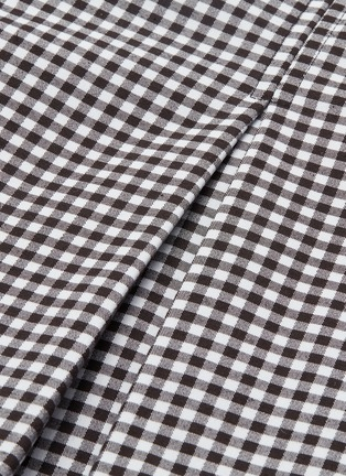 - OPENING CEREMONY - Contrast sleeve pleated gingham check bustier dress