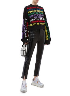 Opening Ceremony Destination intarsia cropped sweater