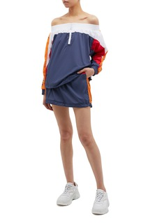 Opening Ceremony 'Warm Up' logo stripe outseam colourblock skirt