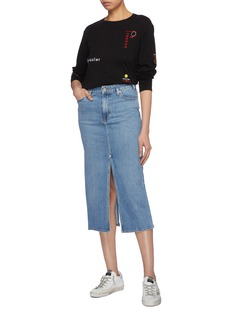 Proenza Schouler PSWL graphic embroidered long sleeve T-shirt