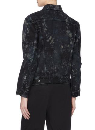 Back View - Click To Enlarge - Proenza Schouler - PSWL drawstring waist tie-dye denim jacket