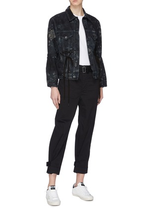 Figure View - Click To Enlarge - Proenza Schouler - PSWL drawstring waist tie-dye denim jacket