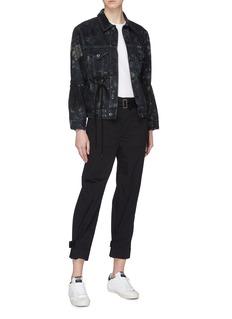 Proenza Schouler PSWL drawstring waist tie-dye denim jacket