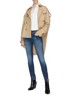 R13 Oversized high-low trench coat
