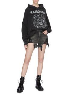 R13 'Ramones Patti' graphic print high-low hoodie