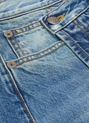 - R13 - 'Norbury' asymmetric distressed denim skirt