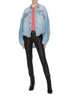 R13 'Maxs' distressed oversized high-low denim jacket
