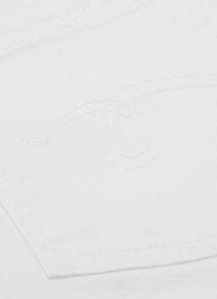- R13 - 'Kate Skinny' shredded angled cuff jeans