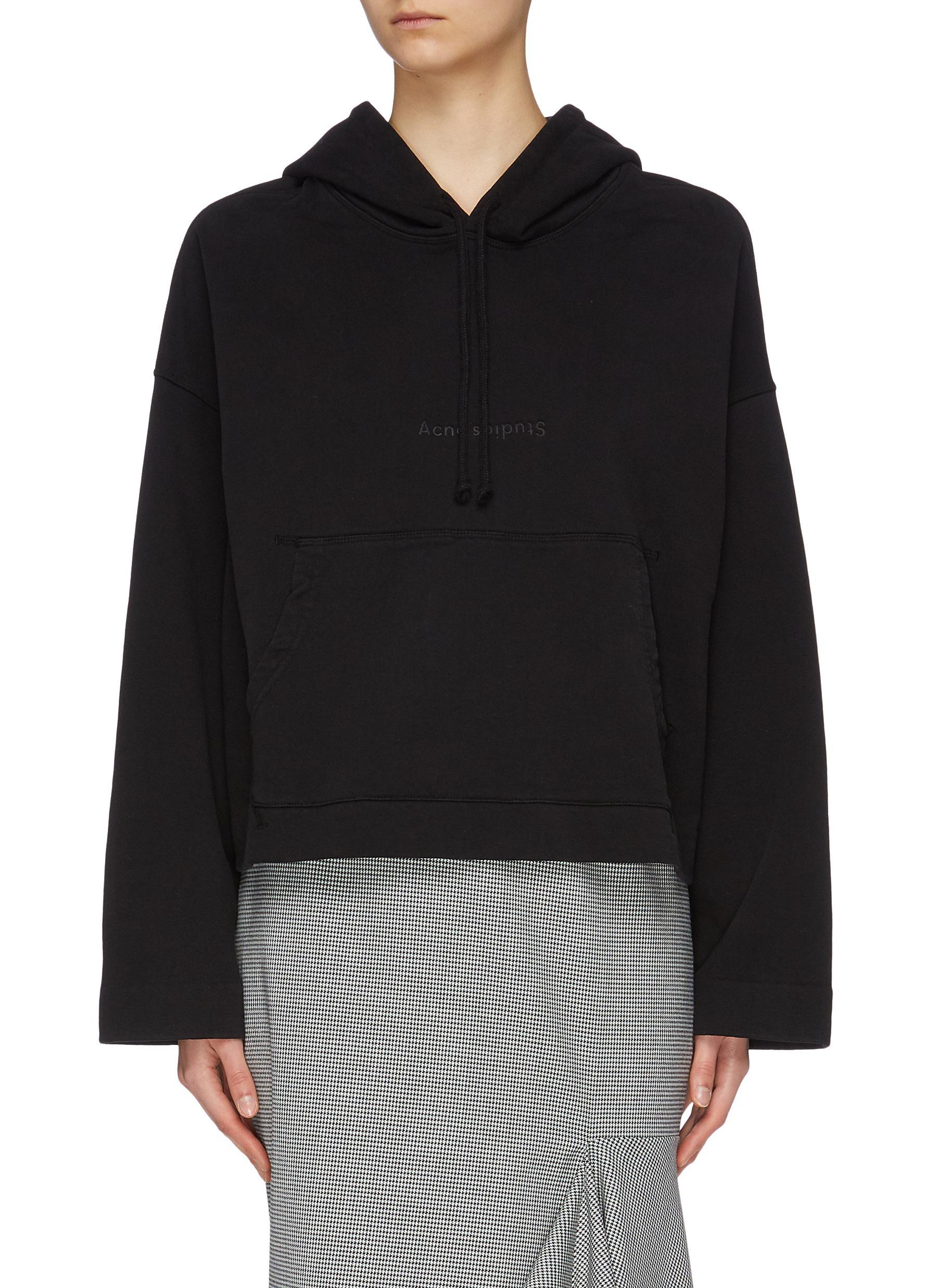 Logo embossed oversized hoodie by Acne Studios