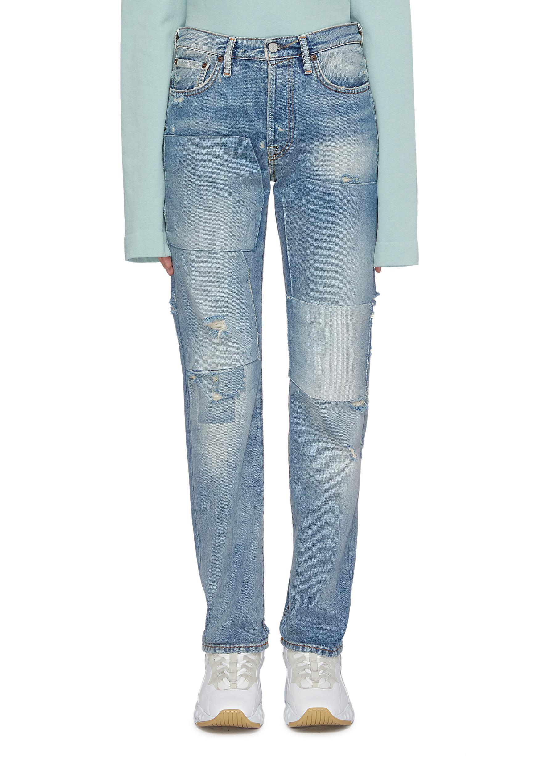 Patchwork distressed jeans by Acne Studios