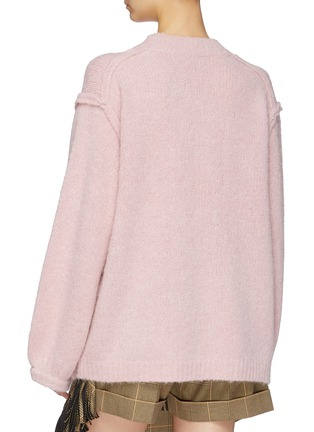 Back View - Click To Enlarge - ACNE STUDIOS - Puff sleeve oversized sweater