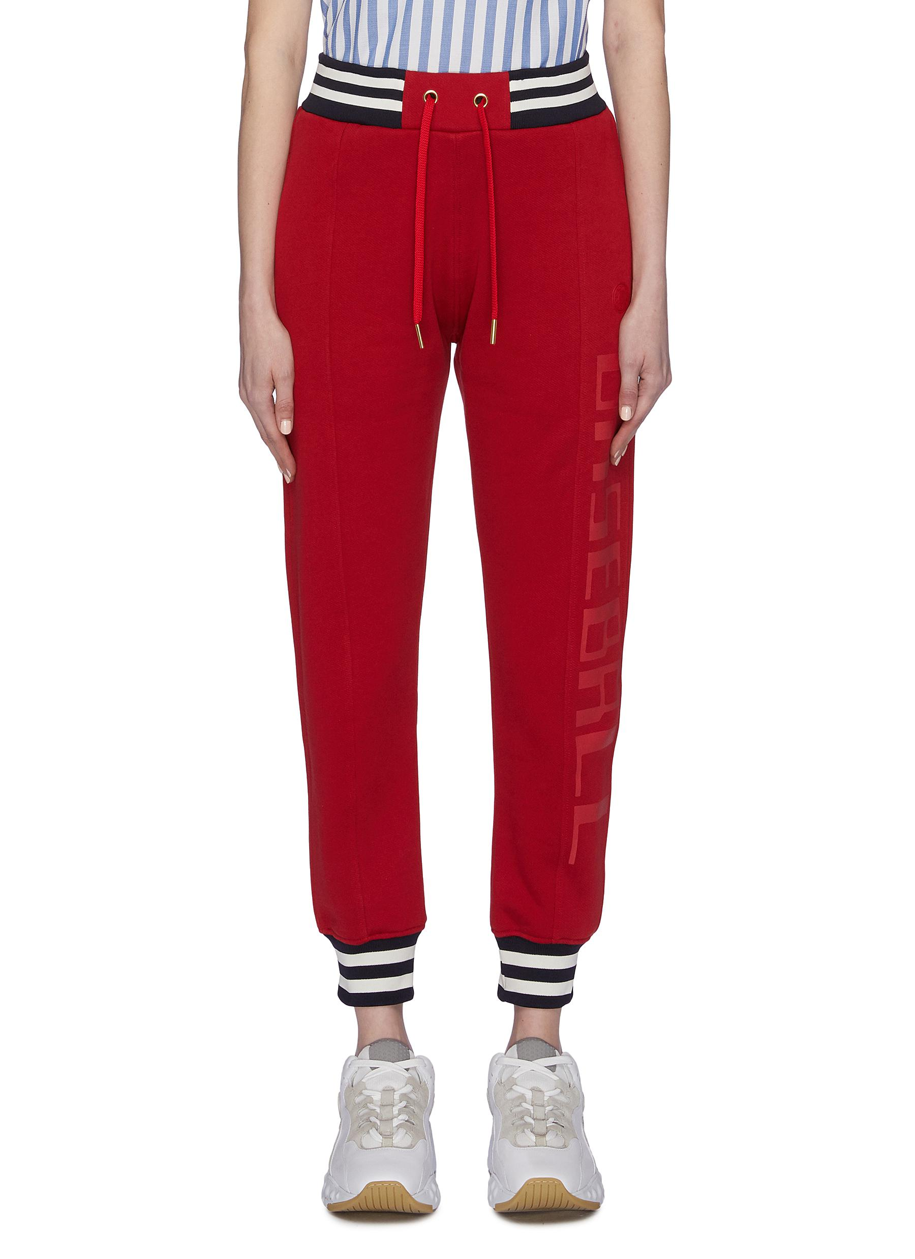 shop Acne Studios Slogan print sweatpants online