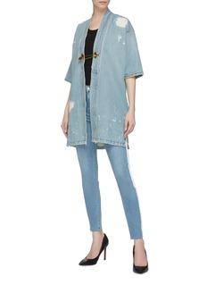 Sandrine Rose 'The Charlie' safety pin oversized denim kimono jacket
