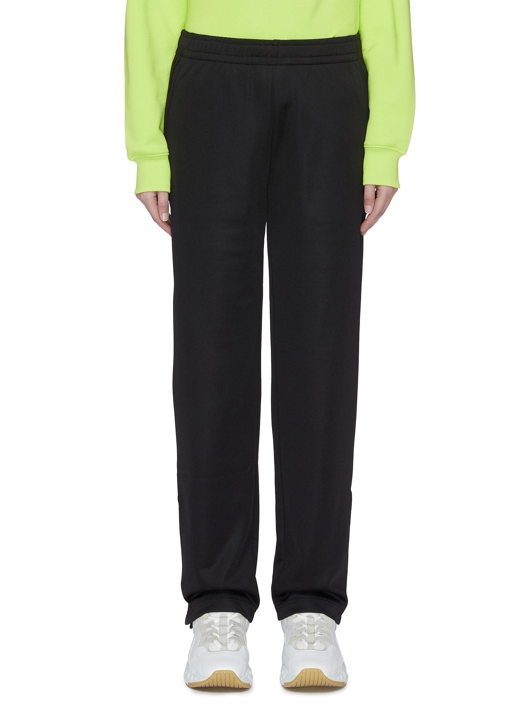 shop Acne Studios Face patch button cuff sweatpants online