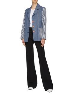 SIMON MILLER 'Dawes' mix print patchwork oversized blazer