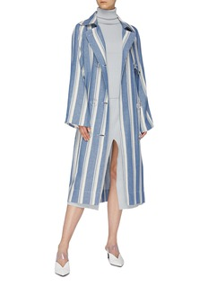 SIMON MILLER 'Paz' belted stripe trench coat