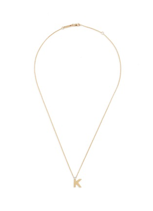 Main View - Click To Enlarge - Roberto Coin - 'Tiny Treasures' diamond 18k yellow gold letter pendant necklace – K