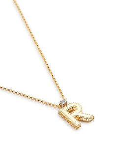 Roberto Coin 'Tiny Treasures' diamond 18k yellow gold letter pendant necklace – R