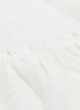 - LISA MARIE FERNANDEZ - Ruffle tiered linen blend skirt