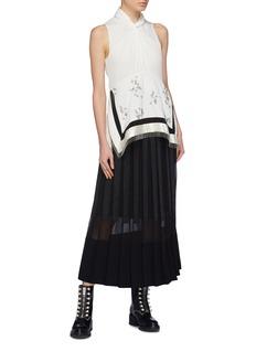 3.1 Phillip Lim Grosgrain ribbon stripe pleated skirt