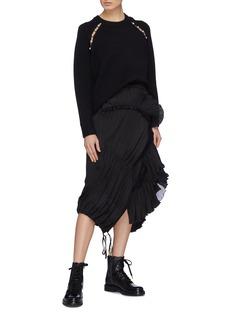 3.1 Phillip Lim Pleated ruffle drape skirt