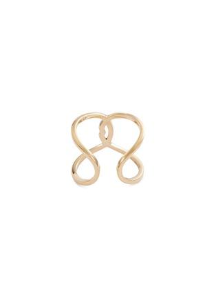 Figure View - Click To Enlarge - DELFINA DELETTREZ - 'Ear-Clips Lips' ruby 18k yellow gold open ring