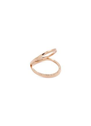 Main View - Click To Enlarge - DELFINA DELETTREZ - 'In Between' diamond 18k rose gold ring