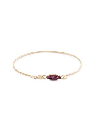 Main View - Click To Enlarge - DELFINA DELETTREZ - 'Grandma Lips' ruby 18k yellow gold bracelet
