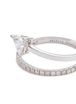 Detail View - Click To Enlarge - DELFINA DELETTREZ - 'Marry Me' diamond 18k white gold ring