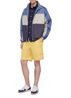 nanamica 'Wind' check plaid back short sleeve shirt