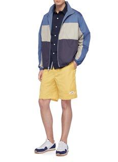 nanamica 'nanamican Deck' logo patch shorts