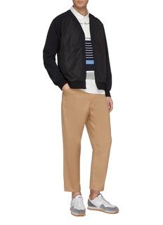 nanamica 'Rugger' mix stripe jersey long sleeve polo shirt