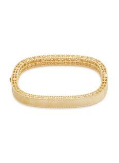 Roberto Coin 'Princess' diamond 18k yellow gold bangle