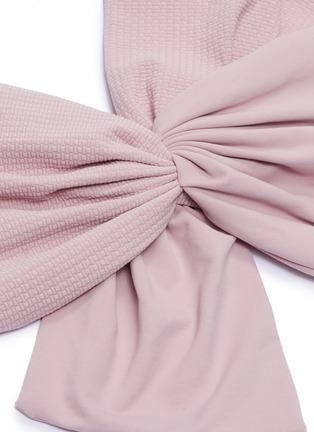 - MARYSIA - 'Venice' knot front one-shoulder bikini top