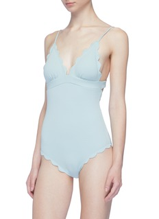Marysia 'Santa Clara' scalloped one-piece swimsuit