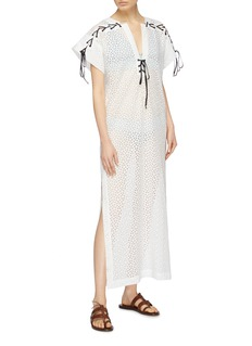 Marysia 'Nantucket' lace-up broderie anglaise tunic dress