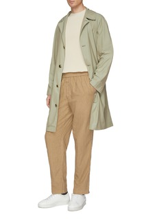 MAISON FLANEUR Pinstripe stonewashed jogging pants