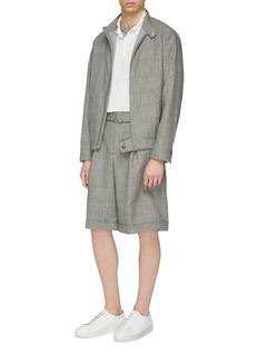 MAISON FLANEUR Micromodal-cashmere knit polo shirt