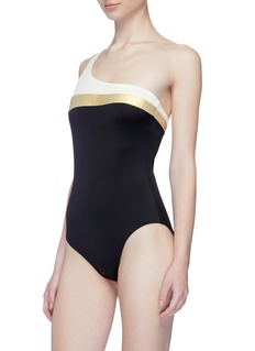 Solid & Striped 'The Chloe' colourblock one-shoulder one-piece swimsuit