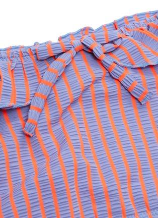 - SOLID & STRIPED - 'The Paloma' stripe seersucker off-shoulder bikini top